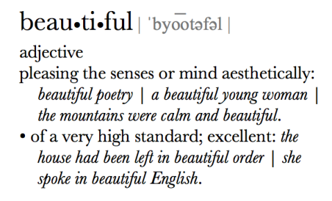 Beautiful According to Oxford